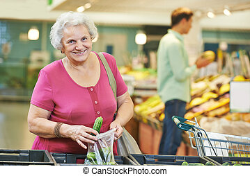 legumes, shopping mulher, adulto