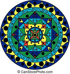 mandala, multicolored